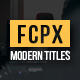 Modern Titles Pack for FCPX