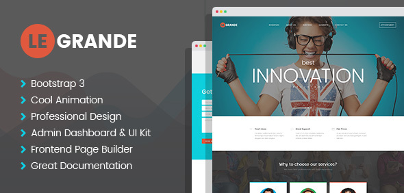 LeGrande - Corporate PSD Template