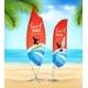 Surf Club 2 Advertsement Beach Banners