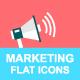 20 Flat Digital Marketing Icons