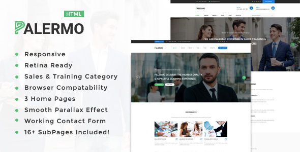 Palermo – Education, Coaching, Consulting &amp Business enterprise HTML Template (Business enterprise)