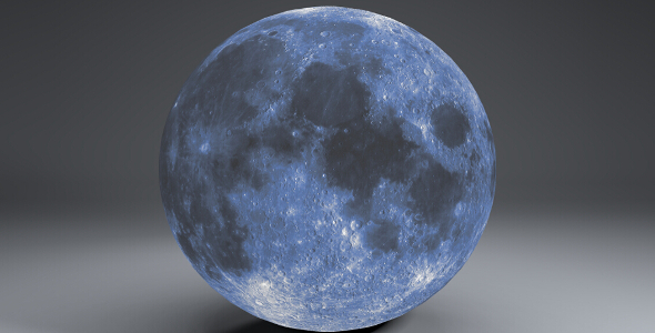 Blue MoonGlobe 11k - 3DOcean Item for Sale