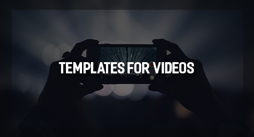 AE templates for Use with Videos