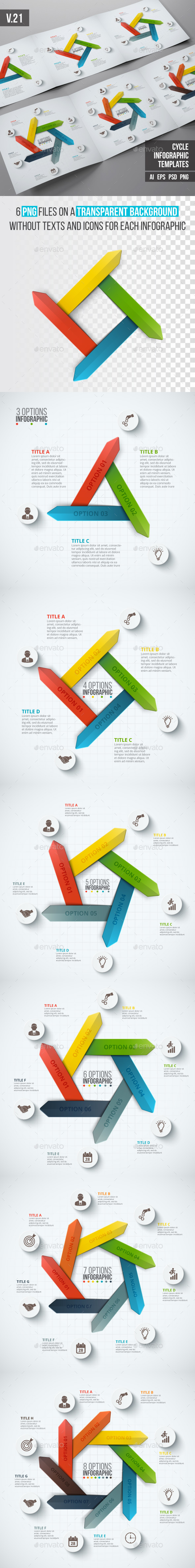 Infographics template set v.21