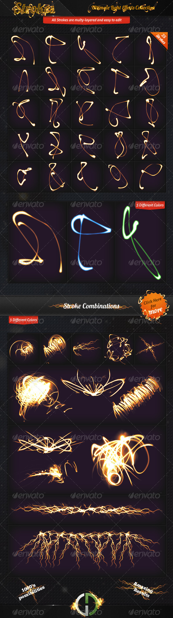 GraphicRiver Ultimate Light Effects Collection Strokes 1912758