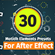 30 Motion Element Presets Pack