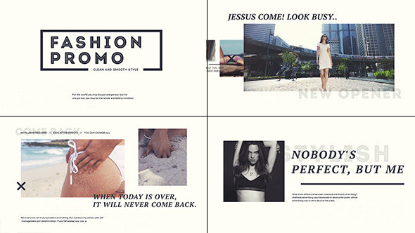 Fashion Promo After Effects Template Videohive 19458786 After Effects Project Files