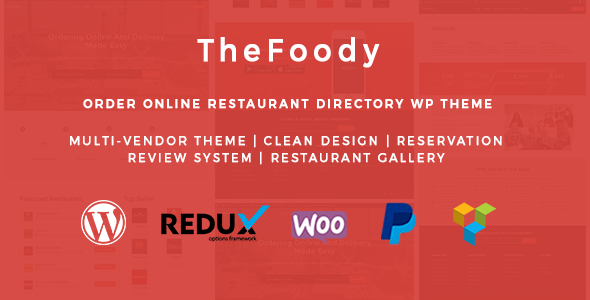 Download Thefoody - Multivendor Multiple Restaurant WordPress Theme