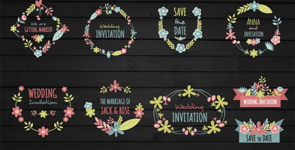 VideoHive 10 Floral Frame for Wedding 19456784