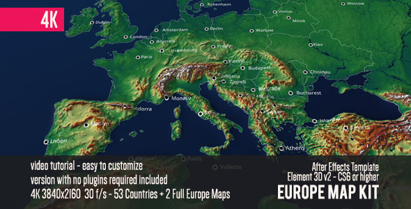 VideoHive Europe Map Kit 19493995