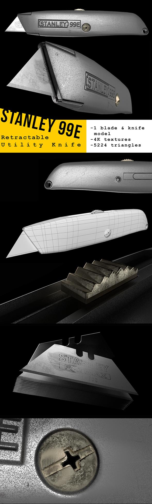 Stanley 99E Utility Knife 3D Model - 3DOcean Item for Sale