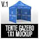 Tente Gazebo 1x1 Mockup Vol 01