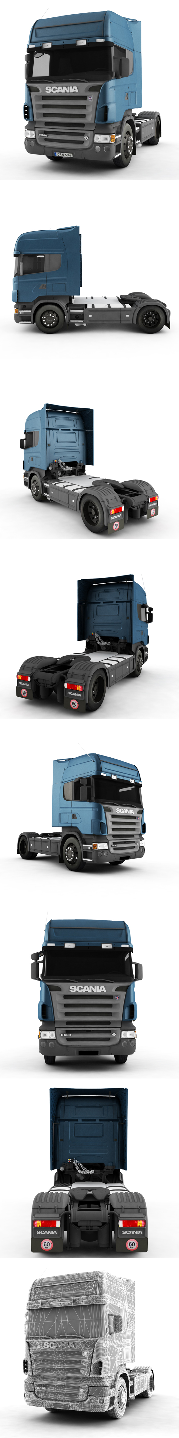 Truck Scania R - 3DOcean Item for Sale