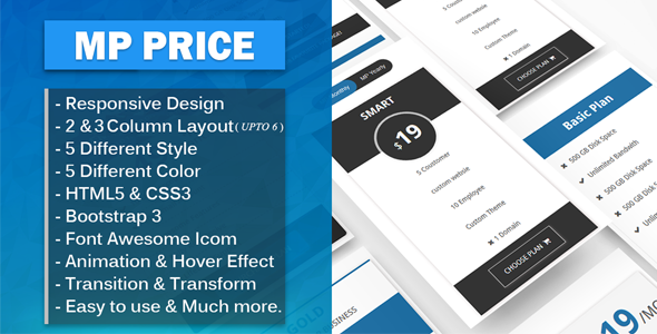 Download MP Price - Responsive Bootstrap Pricing Tables