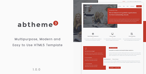 Download abtheme3 - Responsive Multipurpose and Easy to use HTML5 template