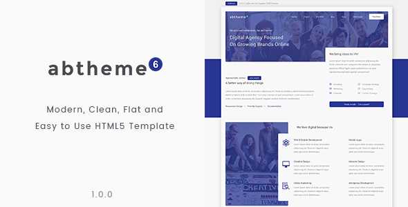 Download abtheme6 - Modern multipurpose and Easy to use HTML5 template