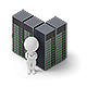 Isometric People - Servers