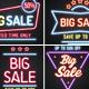 Neon Sale Banners Set