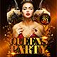 Queens Party Flyer Template