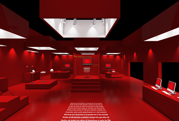 3D red Exhibition Stand vray render - 3DOcean Item for Sale