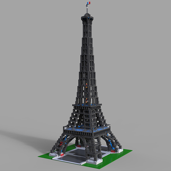 Lego Eifel Tower - 3DOcean Item for Sale