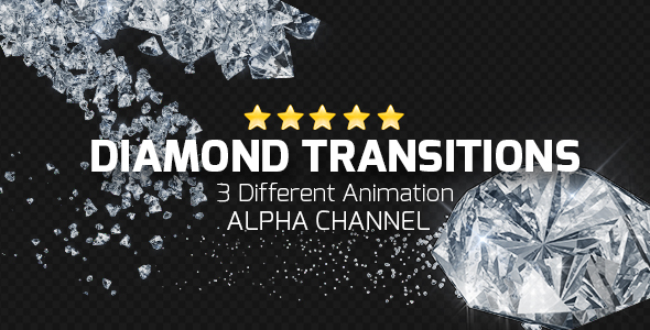 VideoHive Diamond Transitions 19463135