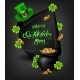 Greeting Card Design with Happy Saint Patrick's Day