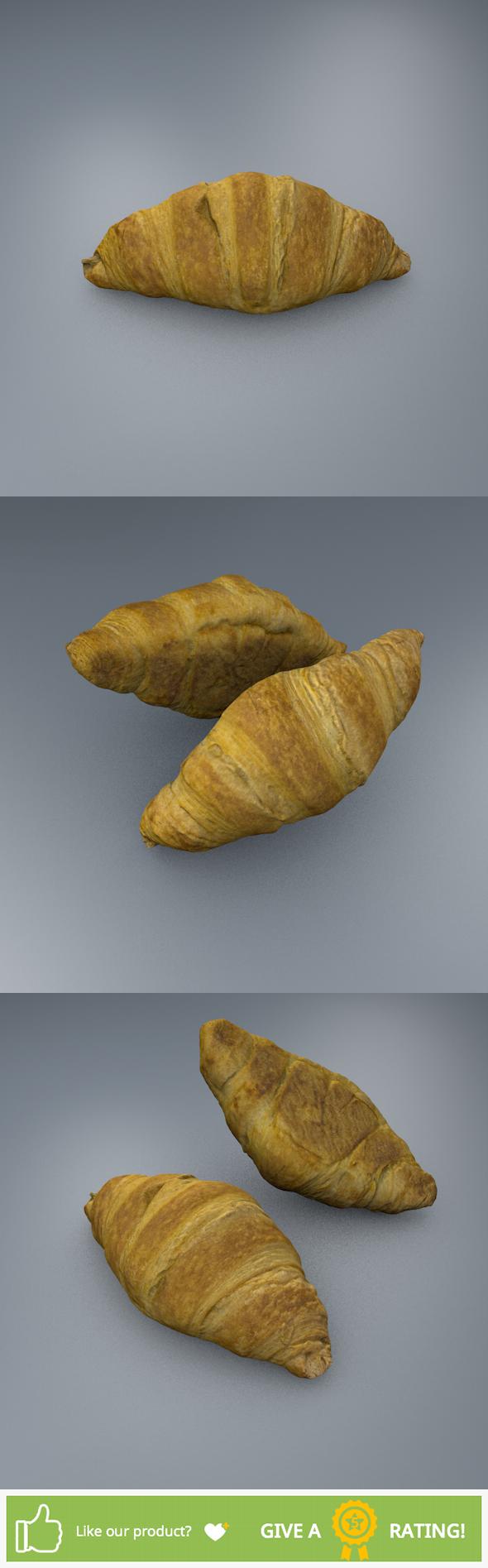 Croissant - 3DOcean Item for Sale