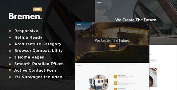 Bremen - Architecture, Interior and Design WordPress Theme