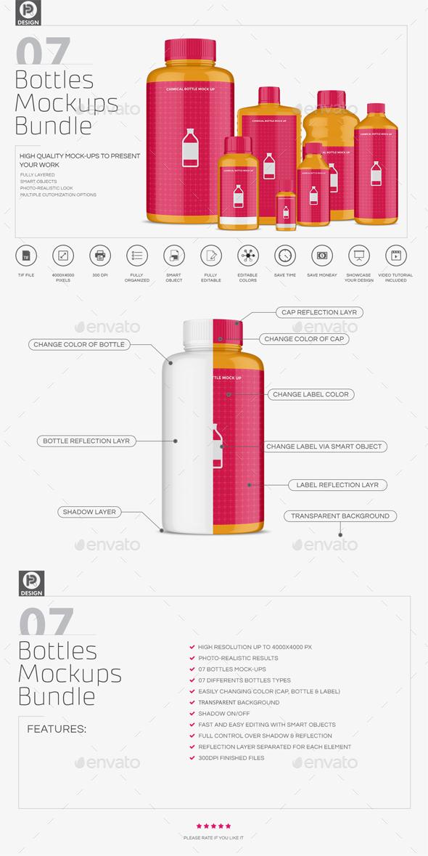 Chemical Bottles Mockups