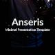 Anseris - Minimal Keynote Template