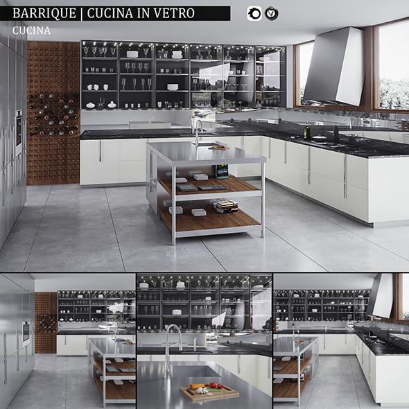 Kitchen Barrique Cucina in vetro - 3DOcean Item for Sale