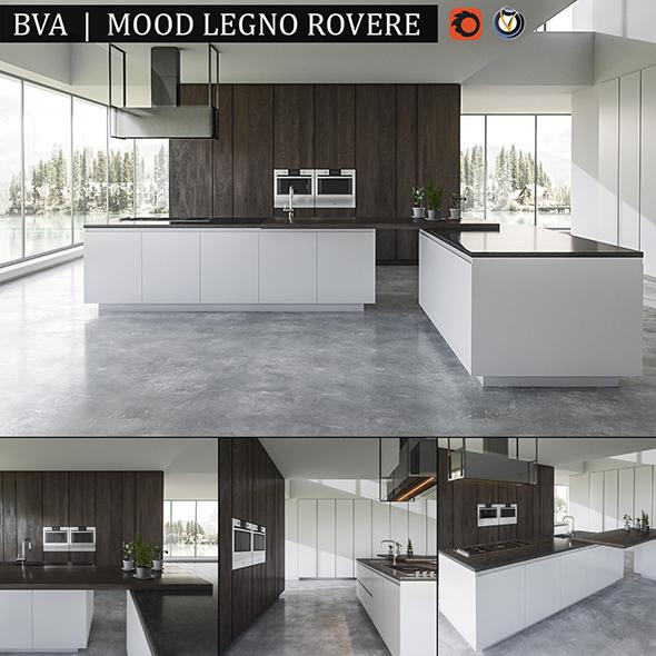 Kitchen BVA Mood Legno Rovere - 3DOcean Item for Sale