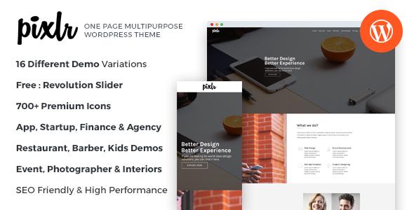 Download Pixlr - Premium One Page Multipurpose WordPress Theme