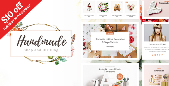 Handmade Shop – Handicraft Weblog &amp Inventive Shop WordPress Theme (WooCommerce)