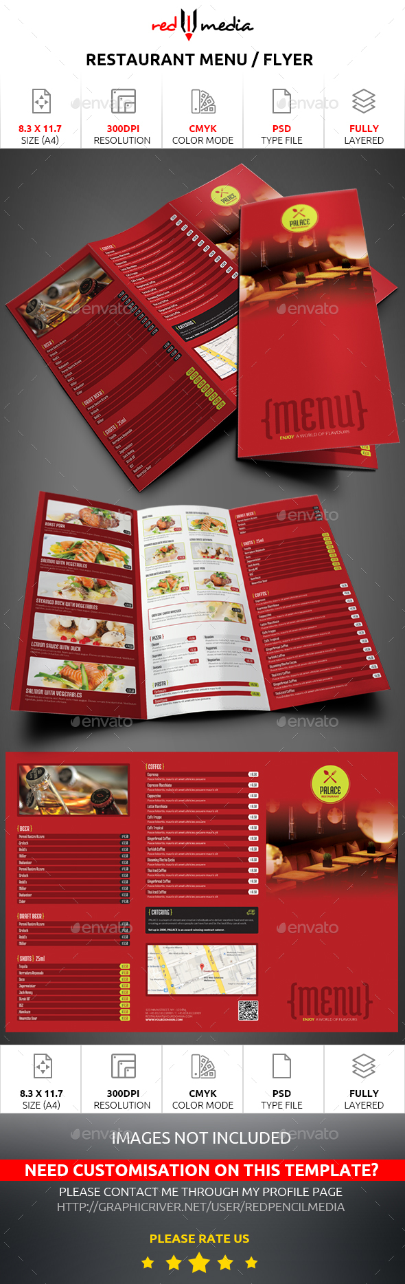 Restaurant Trifold Menu / Flyer