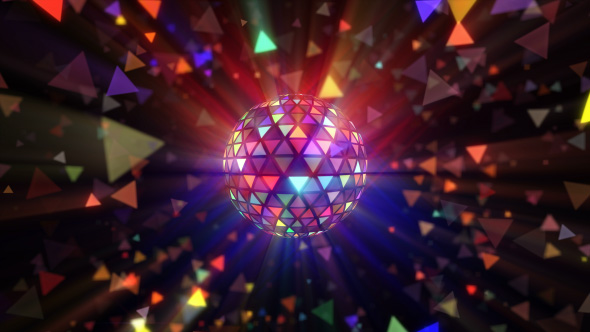 VideoHive Disco Ball Triangles Rays 4K 19502204