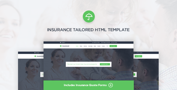 Insuranced - Insurance HTML Template