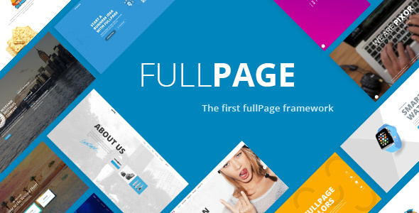Download FullPage -  Fullscreen Multi Concept HTML5 Template