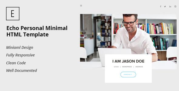 Echo Personal Minimal HTML Template