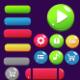 Cartoon Game Buttons 5 Styles 2D UI Game Asset GUI