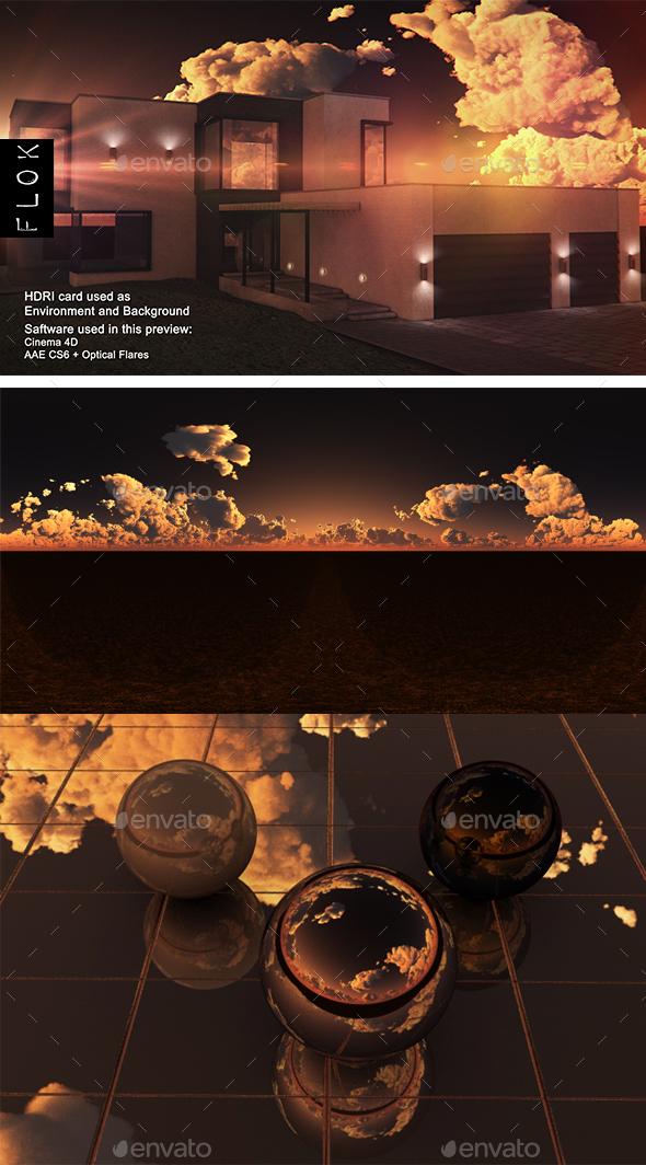 Sunset Desert 91 - 3DOcean Item for Sale