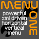 MenuOne powerful XML AS3 menu - ActiveDen Item for Sale