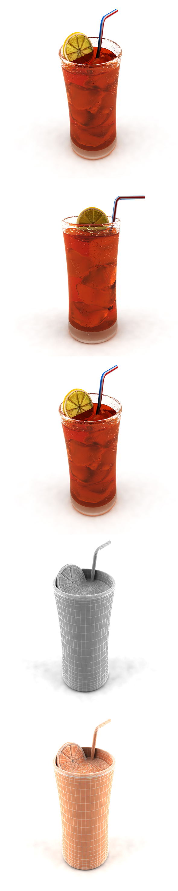 Glass of Ice Tea with Lemon - 3DOcean Item for Sale