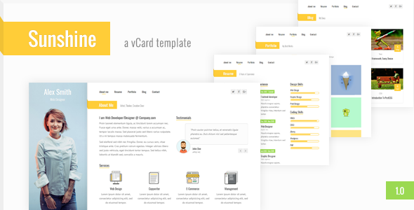 Virtualbusinesscard Archives WordPress Themes Directory - Virtual business card template