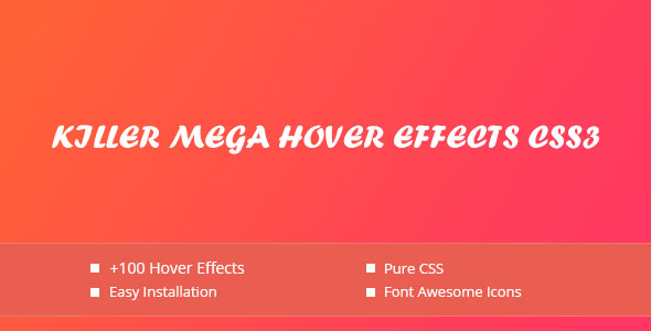Download Killer Mega Hover Effects CSS3