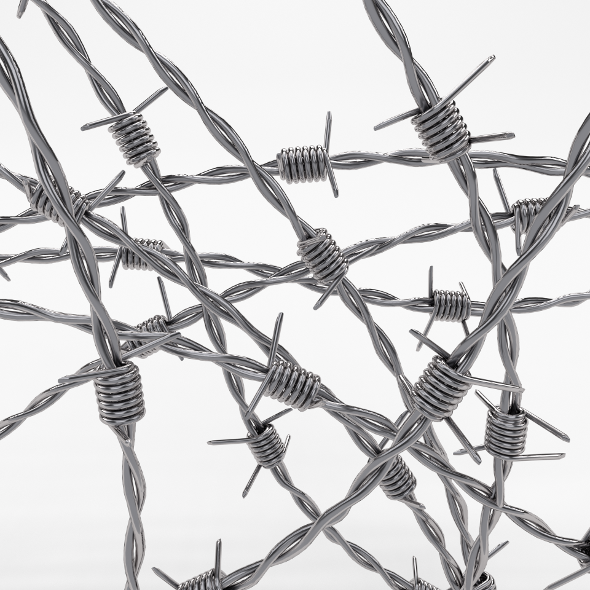 Barb Wire Chrome - 3DOcean Item for Sale