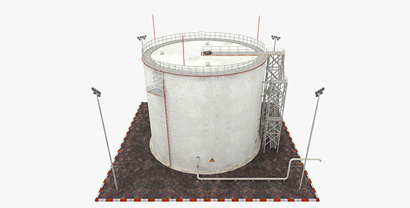 Oil Tank - Refinery - 3DOcean Item for Sale