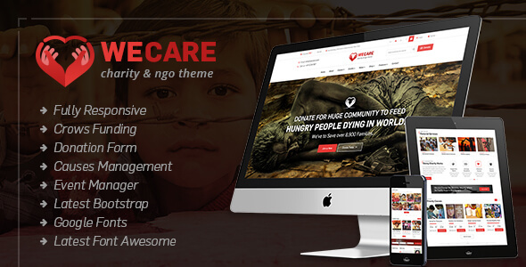 We Care - Charity WordPress Theme