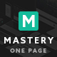 Mastery One Page - Creative WordPress Theme Builder